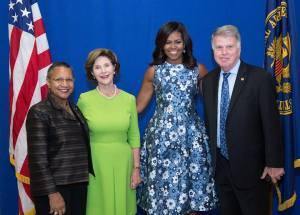 A'Lelia Bundles, Laura Bush, Michelle Obama, David Ferriero, NARA, 091616 WH Photo by Amanda Lucidon