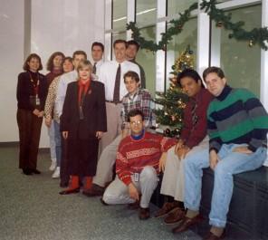 Eva and her NARA team, December 1994