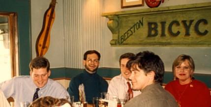 Eva and NARA colleagues, Christmas, 1994