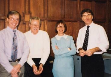 MIT Libraries leadership team, David S. Ferriero, right