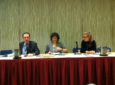 Kate Theimer, right, AHA panel, January 2014