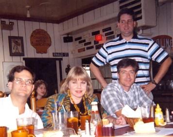 Joe Scanlon, Eva Krusten, Chuck Hughes, Jay Bosanko, standing, ca. 1998