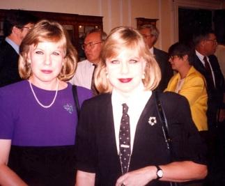 Maarja and Eva, Archivist's Reception Room, 1995