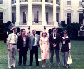 Our NARA group White House staff picnic 1977