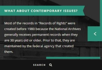 Records of Rights online exhibit panel cr