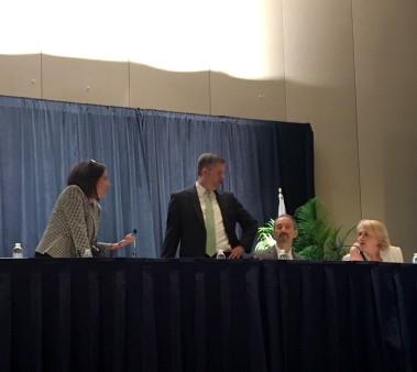 Deb Wall, Jay Bosanko, Laurence Brewer, Pam Wright, NARA panel, SAA,17 August 2018