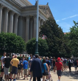 Visitors to National Archives Museum, July 2017