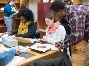 Participants in a writing workshop at the National Archives