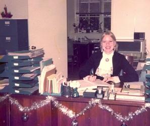 Maarja, office, ca. 1975