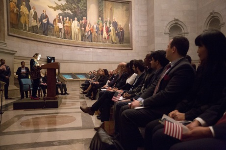 Bill of Rights Day Naturalization Ceremony at the National Archives in Washington, DC, on December 14, 2018.