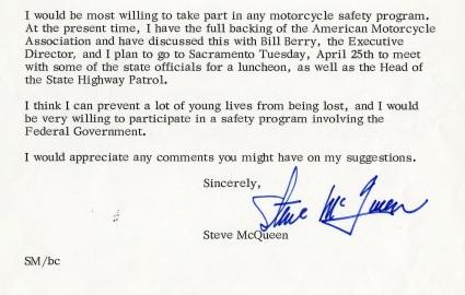 106757090_003 Steve McQueen letter extract 1967