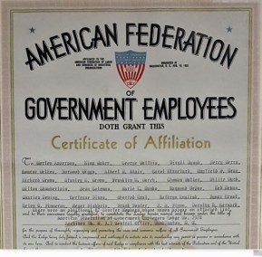 NARA AFGE certificate, 1966 2