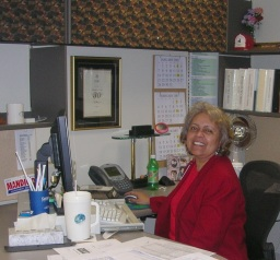 Val Gist in her office, GAO retirement, 2007